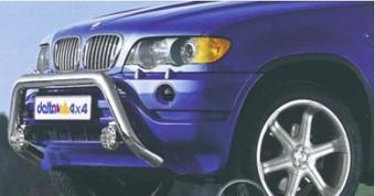 Защита переднего бампера на BMW X5