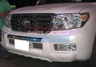 Защита переднего бампера пластиковая LC200