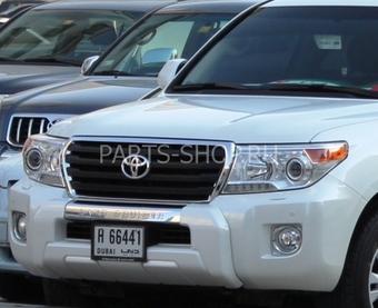 Защита переднего бампера пластиковая LC200 2012-