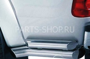Защита заднего бампера угловая двухтрубная Hilux Surf
